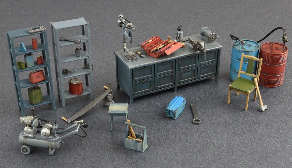 ガレージ工作場プラモデル(ミニアート1/35 ビルディング&アクセサリー シリーズNo.35596)商品画像_3