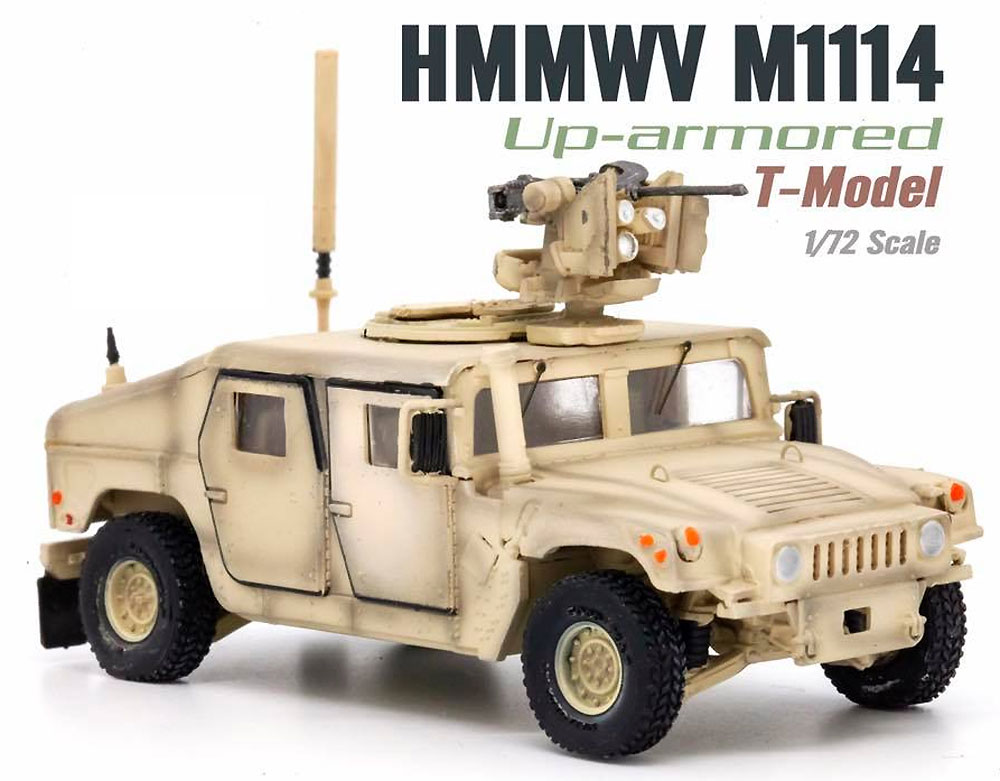 U.S. M1114 HMMWV HA w/CROWS サンドイエロー完成品(ティーモデル1/72 塗装済完成品No.TMOTF7205)商品画像_1