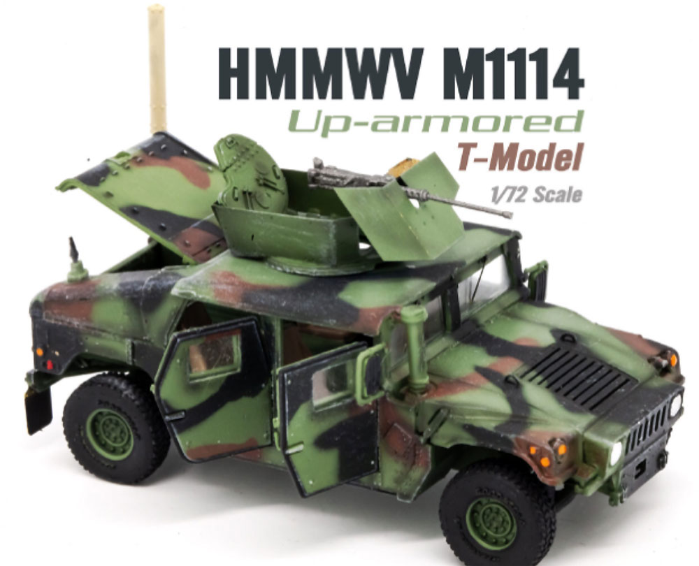U.S. M1114 HMMWV HA NATO迷彩 ドア開放完成品(ティーモデル1/72 塗装済完成品No.TMOTF7212)商品画像_1