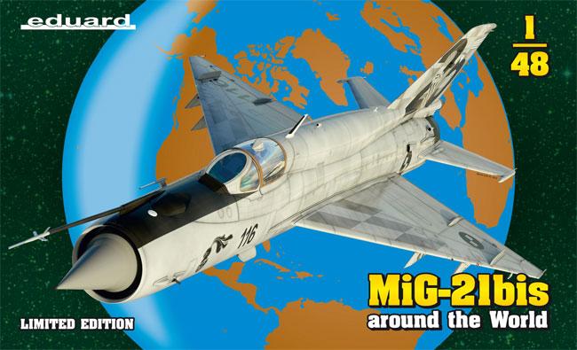 MiG-21bis around the Worldプラモデル(エデュアルド1/48 リミテッドエディションNo.11135)商品画像