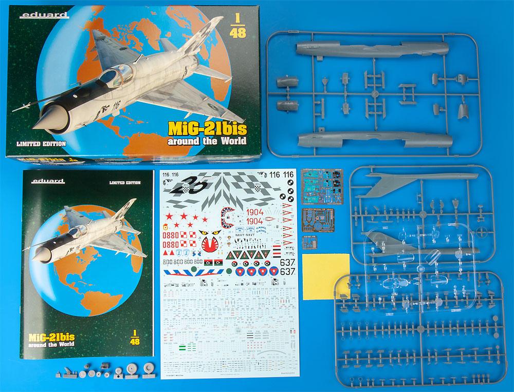 MiG-21bis around the Worldプラモデル(エデュアルド1/48 リミテッドエディションNo.11135)商品画像_1