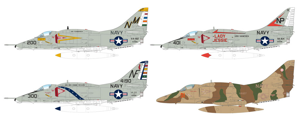 A-4F スカイホークプラモデル(エデュアルド1/144 SUPER44No.4466)商品画像_3