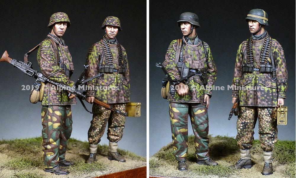 WW2 ドイツ 第12SS装甲師団 HJ MG射撃チームセットレジン(アルパイン1/35 フィギュアNo.AM35268)商品画像_2