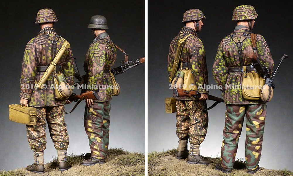 WW2 ドイツ 第12SS装甲師団 HJ MG射撃チームセットレジン(アルパイン1/35 フィギュアNo.AM35268)商品画像_3