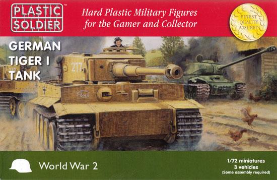 ドイツ タイガー 1 重戦車 前/中/後期型 (3キット入)プラモデル(プラスチックソルジャーWorld War 2No.WW2V20032)商品画像