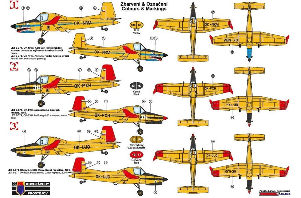 LET Z-37T アグロターボ 農業機プラモデル(KPモデル1/72 エアクラフト プラモデルNo.KPM0145)商品画像_2