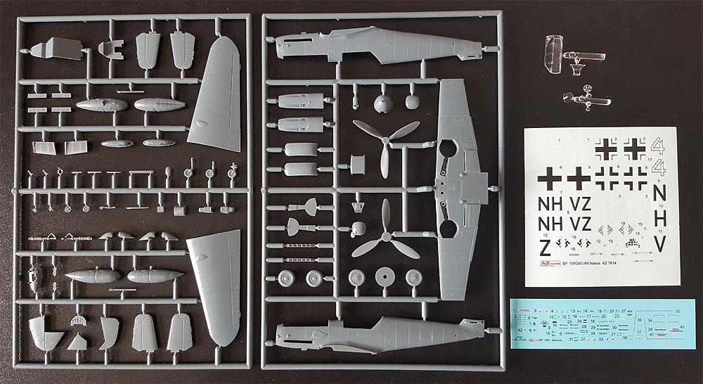 メッサーシュミット Bf109G-6/U/N4 w/FuG350 ナクソスレーダープラモデル(AZ model1/72 エアクラフト プラモデルNo.AZ7614)商品画像_1