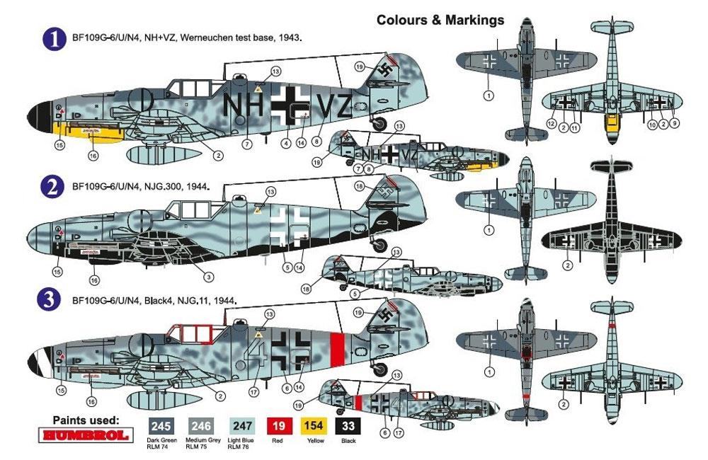 メッサーシュミット Bf109G-6/U/N4 w/FuG350 ナクソスレーダープラモデル(AZ model1/72 エアクラフト プラモデルNo.AZ7614)商品画像_2