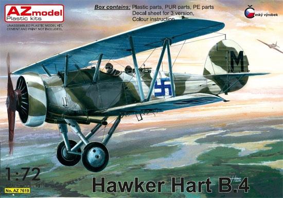 ホーカー ハート B.4プラモデル(AZ model1/72 エアクラフト プラモデルNo.AZ7619)商品画像