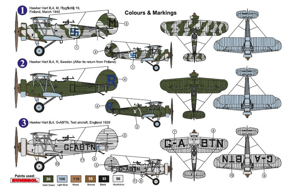 ホーカー ハート B.4プラモデル(AZ model1/72 エアクラフト プラモデルNo.AZ7619)商品画像_2