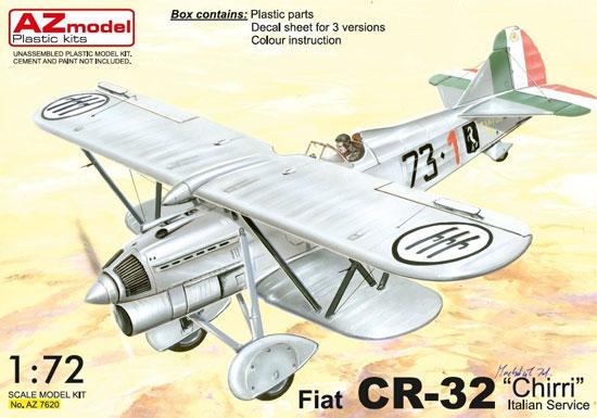 フィアット CR-32 イタリア軍プラモデル(AZ model1/72 エアクラフト プラモデルNo.AZ7620)商品画像