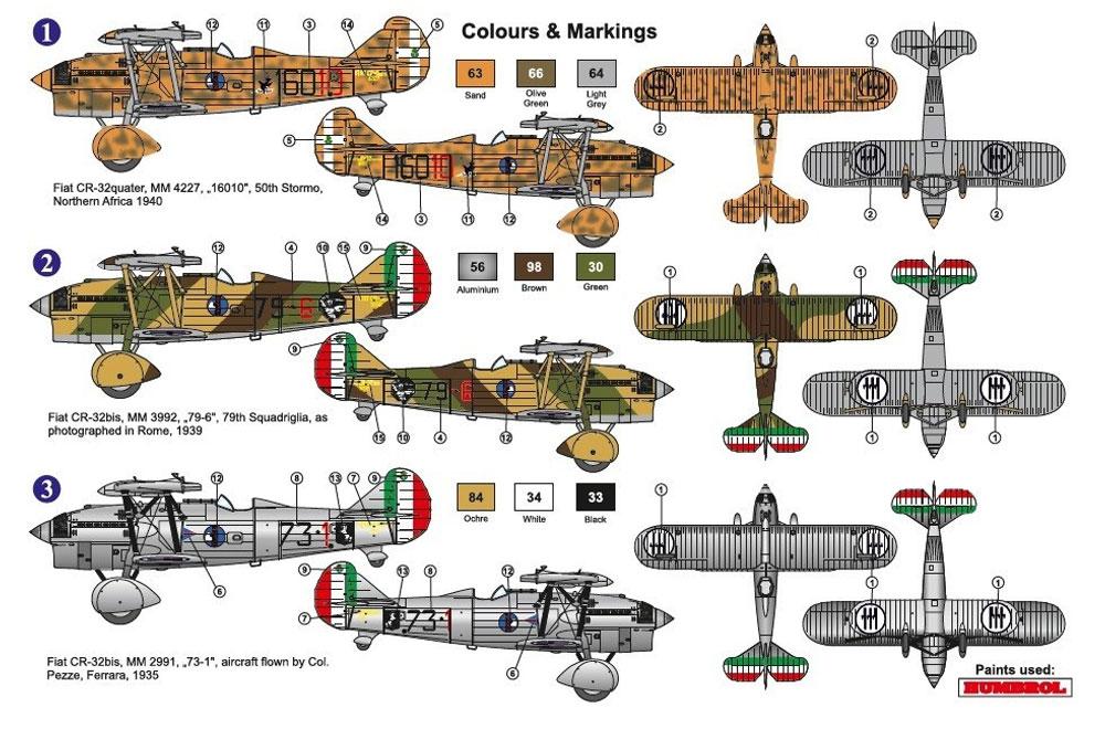 フィアット CR-32 イタリア軍プラモデル(AZ model1/72 エアクラフト プラモデルNo.AZ7620)商品画像_2