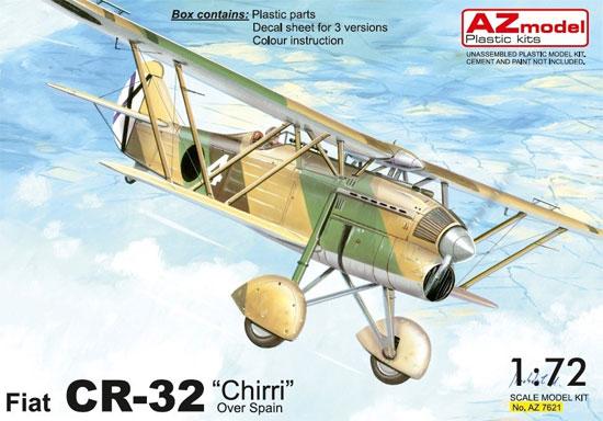 フィアット CR-32 スペイン内戦プラモデル(AZ model1/72 エアクラフト プラモデルNo.AZ7621)商品画像