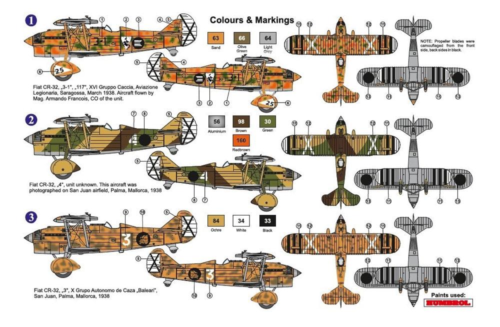 フィアット CR-32 スペイン内戦プラモデル(AZ model1/72 エアクラフト プラモデルNo.AZ7621)商品画像_2