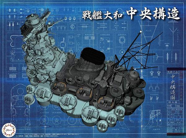 戦艦 大和 中央構造プラモデル(フジミ集める装備品シリーズNo.004)商品画像