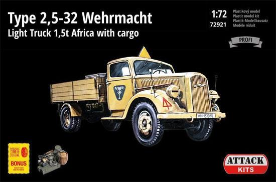 ドイツ軍 タイプ 2.5-32 1.5トン トラック アフリカ戦線プラモデル(アタック1/72 AFV シリーズNo.72921)商品画像