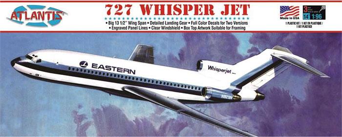 ボーイング 727 ウィスパージェット (旧オーロラ)プラモデル(アトランティスプラスチックモデルキットNo.A351)商品画像
