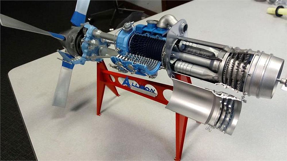 アリソン ターボプロップ ジェットエンジン MODEL501-013プラモデル(アトランティスプラスチックモデルキットNo.H1551)商品画像_1
