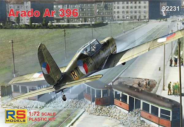 アラド Ar396 高等練習機プラモデル(RSモデル1/72 エアクラフト プラモデルNo.92231)商品画像