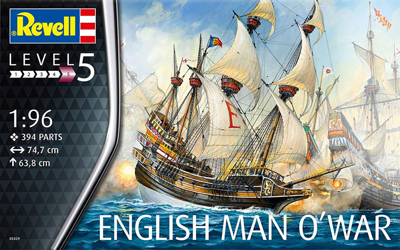 イギリス マン オー ウォープラモデル(レベル帆船 (Sailing Ships)No.05429)商品画像