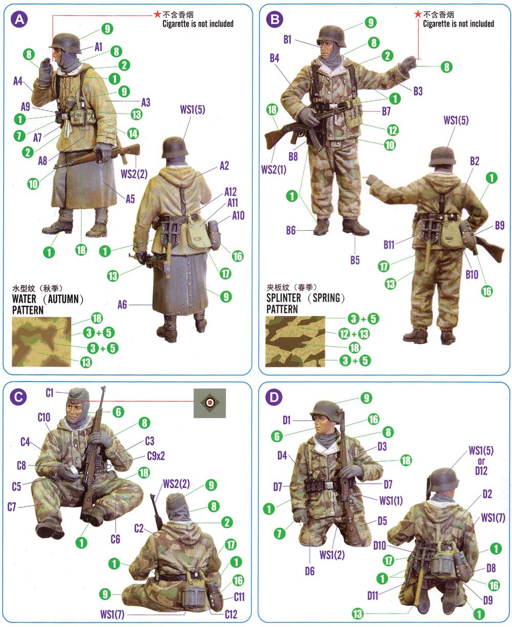 ドイツ装甲擲弾兵セット Vol.1プラモデル(ホビーボス1/35 ファイティングビークル シリーズNo.84404)商品画像_1