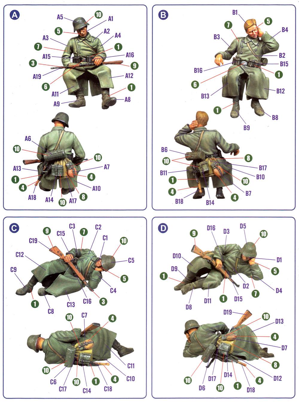 ドイツ歩兵 休息セットプラモデル(ホビーボス1/35 ファイティングビークル シリーズNo.84420)商品画像_1