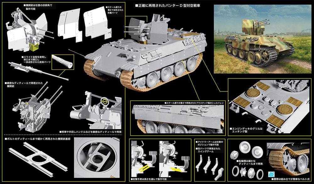 ドイツ パンターD型 対空戦車 第653重戦車大隊プラモデル(ドラゴン1/35 '39-'45 SeriesNo.6899)商品画像_2