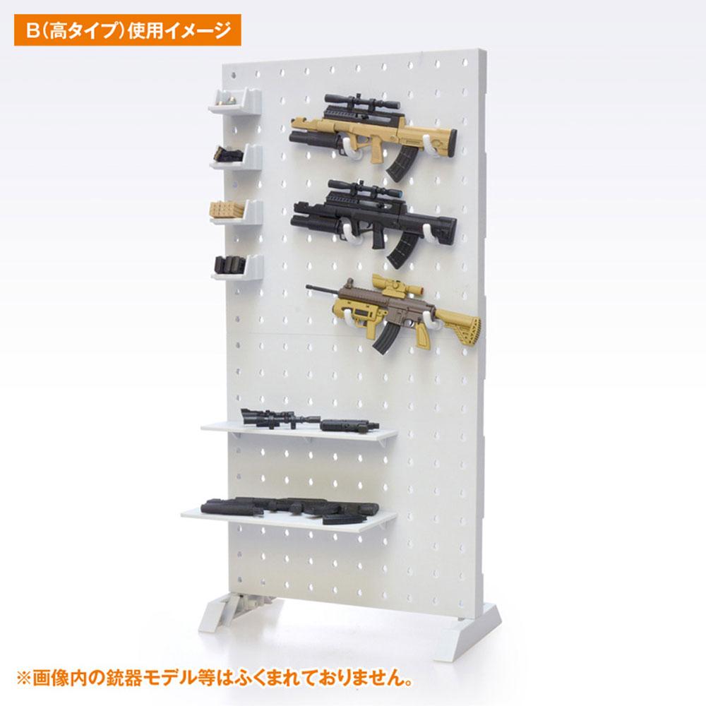 AWSP-02B ウェポンシェルフ 高タイププラモデル(橘猫工業1/12 ARMED WORLDNo.KM-035)商品画像_3