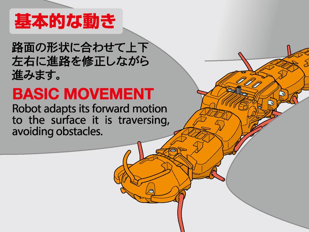 ムカデロボット工作セット クリヤーオレンジ工作キット(タミヤ楽しい工作シリーズNo.69928)商品画像_3