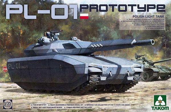 ポーランド PL-01 試作軽戦車 ステルスタンクプラモデル(タコム1/35 ミリタリーNo.2127)商品画像