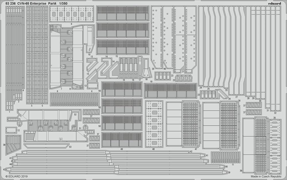 CVN-65 エンタープライズ ビッグED パーツセット PART 2エッチング(エデュアルド1/350 BIG ED (SHIPS)No.BIG5352)商品画像_1