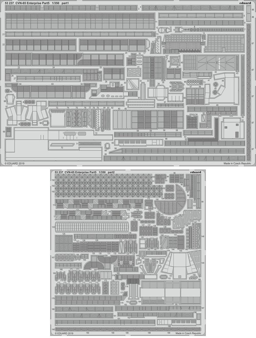 CVN-65 エンタープライズ ビッグED パーツセット PART 2エッチング(エデュアルド1/350 BIG ED (SHIPS)No.BIG5352)商品画像_2