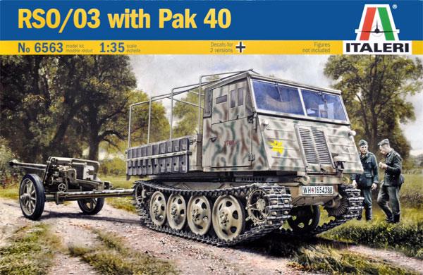 RSO/03 with Pak40プラモデル(イタレリ1/35 ミリタリーシリーズNo.6563)商品画像