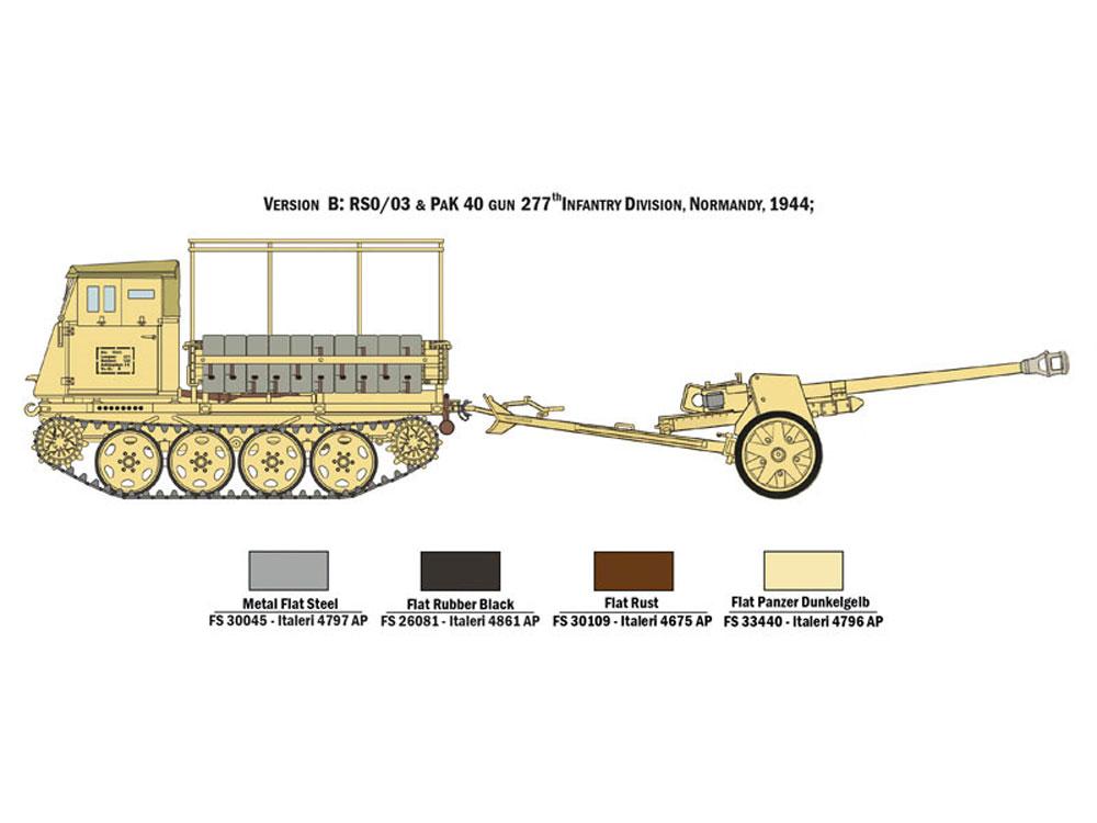 RSO/03 with Pak40プラモデル(イタレリ1/35 ミリタリーシリーズNo.6563)商品画像_2