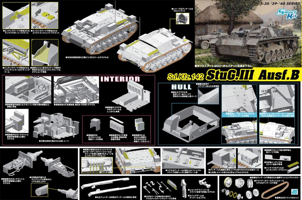 Sd.Kfz.142 3号突撃砲 B型 スマートキットプラモデル(ドラゴン1/35 '39-'45 SeriesNo.6919)商品画像_2