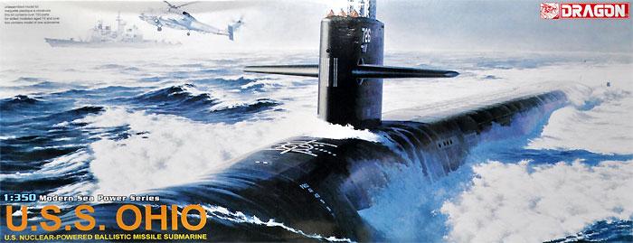アメリカ海軍 原子力潜水艦 U.S.S. オハイオプラモデル(ドラゴン1/350 Modern Sea Power SeriesNo.1002)商品画像