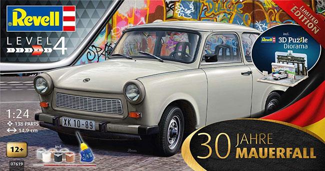 トラバント 601S ベルリンの壁崩壊30周年記念プラモデル(レベルカーモデルNo.07619)商品画像