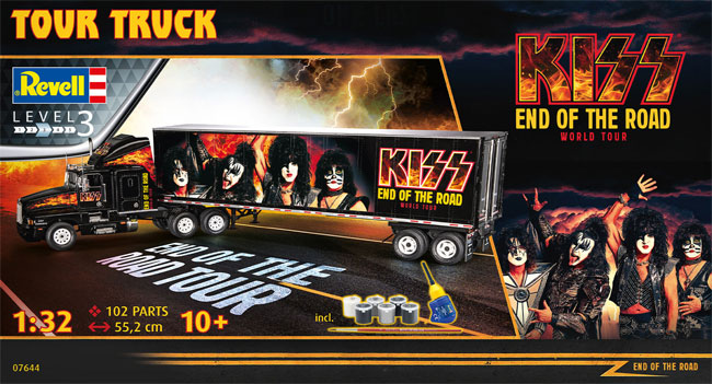 ツアートラック KISS END OF THE ROAD ワールドツアープラモデル(レベル1/32など カーモデルNo.07644)商品画像