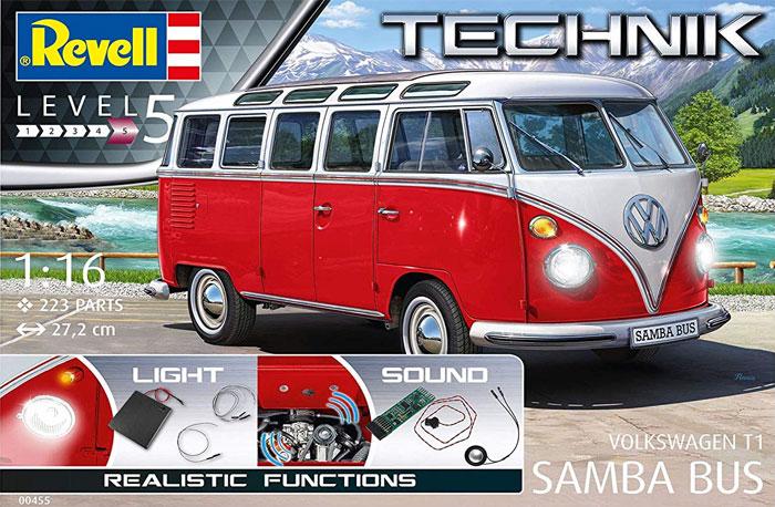 フォルクスワーゲン T1 サンバ バスプラモデル(レベルレベルテクニックNo.00455)商品画像