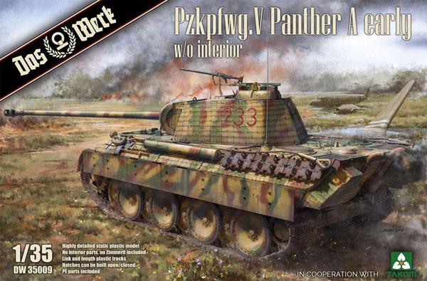 ドイツ 中戦車 パンターA 前期型プラモデル(ダス ヴェルク1/35 ミリタリーNo.DW35009)商品画像