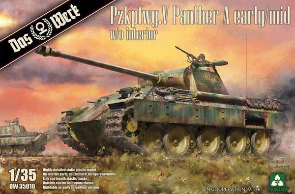 ドイツ 中戦車 パンターA 前期/中期型プラモデル(ダス ヴェルク1/35 ミリタリーNo.DW35010)商品画像