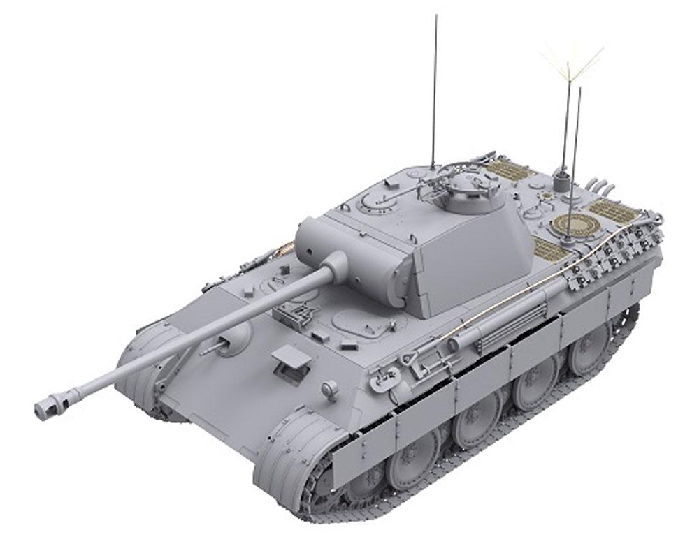 ドイツ 中戦車 パンターA 後期型 2in1プラモデル(ダス ヴェルク1/35 ミリタリーNo.DW35011)商品画像_2