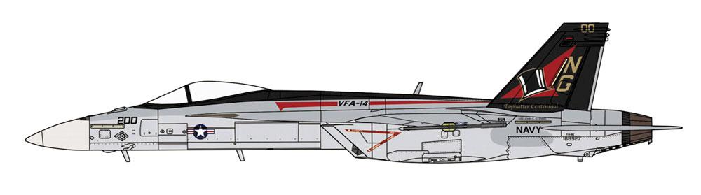 F/A-18E スーパーホーネット VFA-14 トップハッターズ CAGプラモデル(ハセガワ1/72 飛行機 限定生産No.02309)商品画像_2