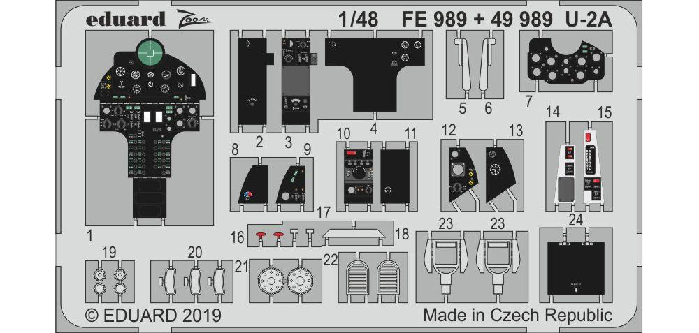U-2A ズーム エッチングパーツエッチング(エデュアルド1/48 エアクラフト カラーエッチング ズーム (FE-×)No.FE989)商品画像_1