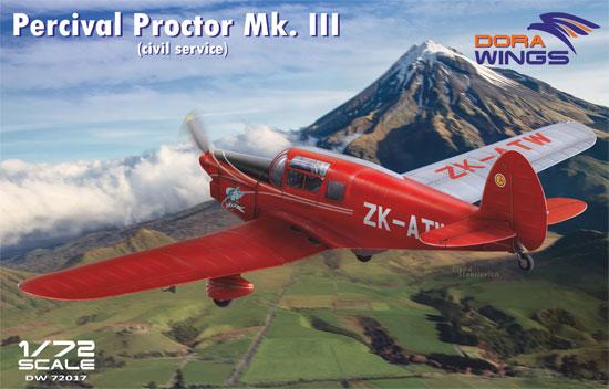 パーシヴァル プロクター Mk.3 民間仕様プラモデル(ドラ ウイングス1/72 エアクラフト プラモデルNo.DW72017)商品画像