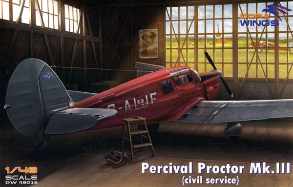 パーシヴァル プロクター Mk.3 民間仕様プラモデル(ドラ ウイングス1/48 エアクラフト プラモデルNo.DW48016)商品画像