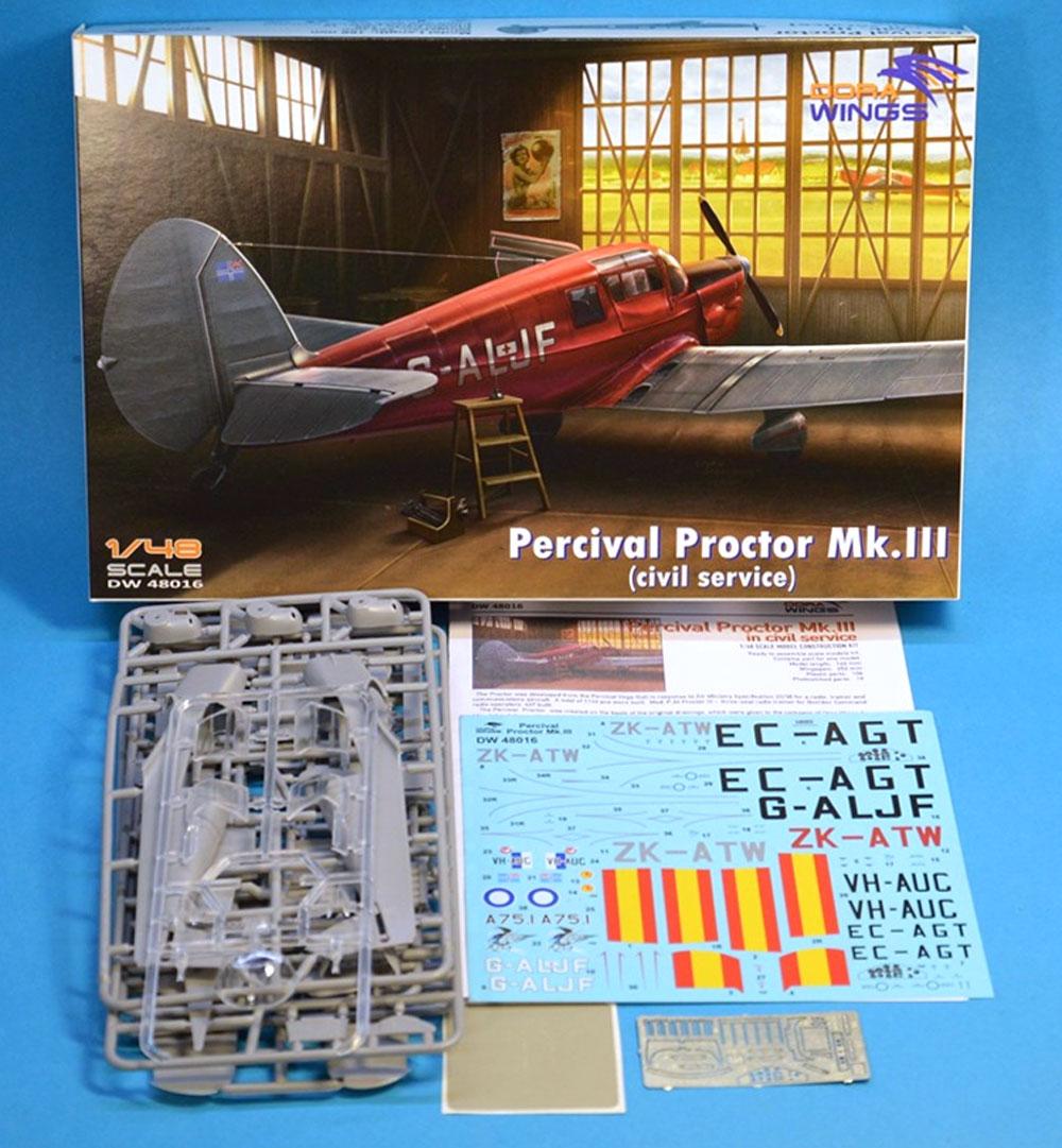 パーシヴァル プロクター Mk.3 民間仕様プラモデル(ドラ ウイングス1/48 エアクラフト プラモデルNo.DW48016)商品画像_1