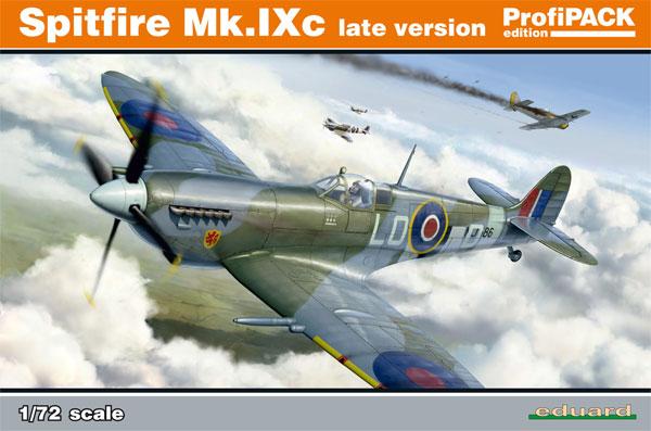 スピットファイア Mk.9c 後期型プラモデル(エデュアルド1/72 プロフィパックNo.70121)商品画像