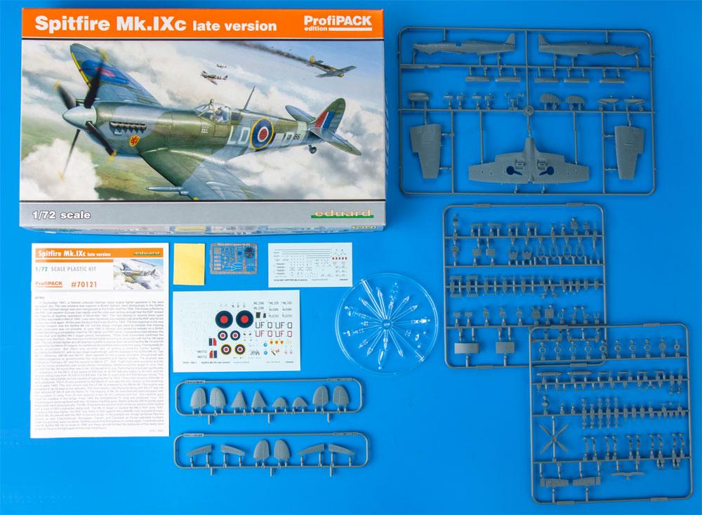 スピットファイア Mk.9c 後期型プラモデル(エデュアルド1/72 プロフィパックNo.70121)商品画像_1