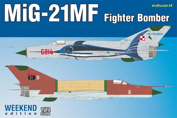 MiG-21MF 戦闘攻撃機プラモデル(エデュアルド1/72 ウィークエンド エディションNo.7451)商品画像